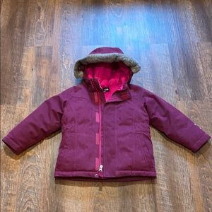 North Face Toddler Size 4T Down Filled Coat